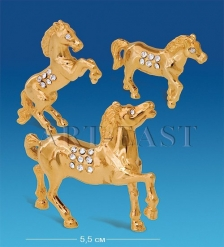 AR-3923 Набор фигурок  Семейка лошадей  3шт.  Юнион