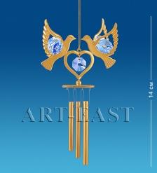 AR-3673 Поющий ветерок  Сердечко с голубями   Юнион
