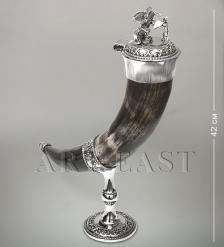 W-930-2 Рог для вина «Битва с драконом»