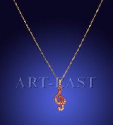 SMT105040K03 Подвеска  Скрипичный ключ  красный