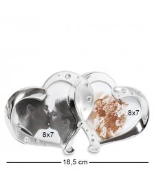 CHK-014 Фоторамка  Влюбленные сердца   на 2 фото: 8х7