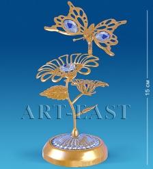 AR-1122 Композиция  Бабочка на двух цветках   Юнион