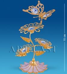 AR-1124 Композиция  Бабочка на трех цветках   Юнион