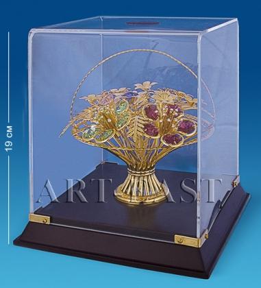 AR-1154 Композиция «Цветы» в подар. кор. с цв.кр.   Юнион