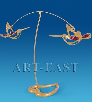 AR-1120/ 1 Фигурка Пара колибри с цв.кр.  Юнион