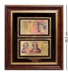 HB-011 Панно  Банкноты 50 GBP  фунт стерлингов  Англия - 2/size