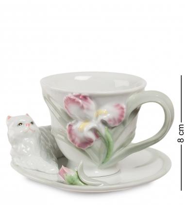 CMS-04/ 2 Чайная пара «Котенок с ирисом»  Pavone