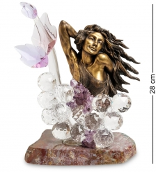RA- 5 Фигура  Бронзовая девушка с хрустал. шарами