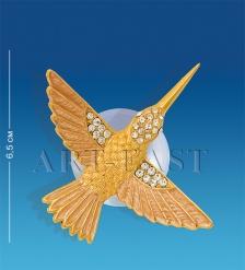 AR-4133/ 7 Фигурка на липучке  Колибри  золотая  Юнион