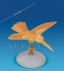 AR-4133/ 1 Фигурка на магните  Колибри  золотая  Юнион