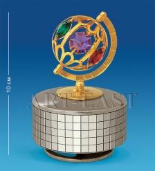 AR-3354/ 1 Фигурка музыкальная  Глобус  с цв.кр.  Юнион