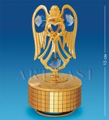AR-3357/ 2 Фигурка музыкальная  Ангел с сердцем  с цв.кр.  Юнион