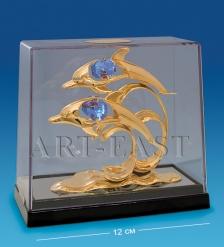 AR-3535/GBC2 Фигурка  Дельфины  с цв.кр. в боксе  Юнион