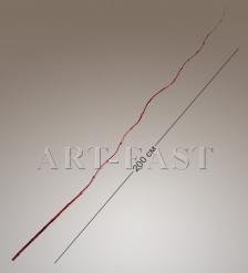 В6-0018 Ветка БАМБУК бордовый 200 см  мин.10 шт.