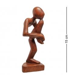 91-025 Статуэтка АБСТРАКЦИЯ йог 15 см  красное дерево