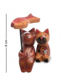 28-032 Статуэтка mini КОТ и КОШКА под зонтиком, набор 2 шт, в асс.