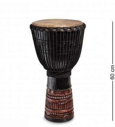 55-019-02 Барабан Джембе резной «Гамби» 60 см