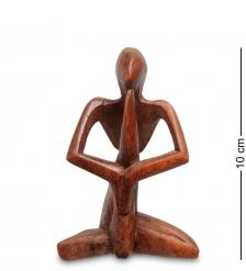 91-019 Статуэтка АБСТРАКЦИЯ молитва 10 см  красное дерево