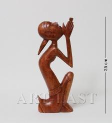 91-014 Статуэтка АБСТРАКЦИЯ МОЛЬБА 35 см  красное дерево