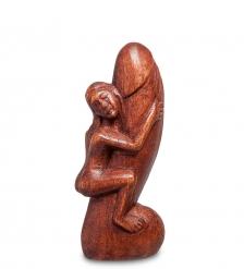 91-005 Статуэтка АБСТРАКЦИЯ ЛОЛО 15 см  красное дерево