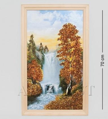 40*70см картина с дерев. рамкой  природа