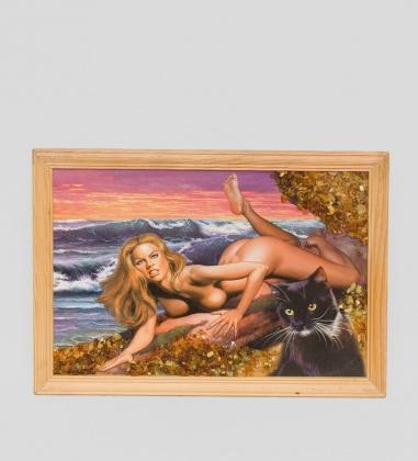21*30см картина с дерев. рамкой  ассорти