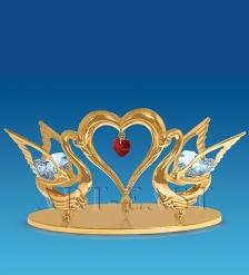 AR-1186/ 1 Фигурка  Два лебедя с сердцем  с цв.кр.  Юнион