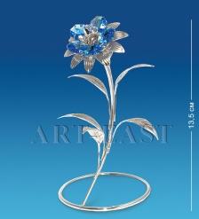 AR-1233 Фигурка посереб.  Цветок  с цв.кр.  Юнион