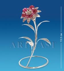 AR-1234 Фигурка посереб.  Цветок  с цв.кр.  Юнион