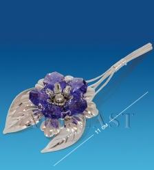 AR-1235 Фигурка посереб.  Цветок  с цв.кр.  Юнион
