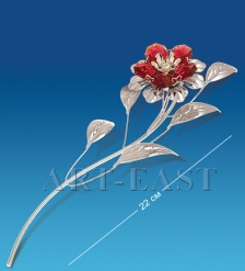 AR-1236 Фигурка посереб. Цветок с цв.кр.  Юнион