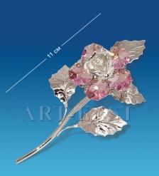 AR-1239 Фигурка посереб. Цветок с цв.кр.  Юнион
