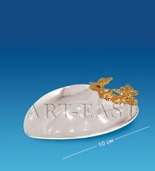 AR-1155 Блюдце-сердце с бабочками  Юнион