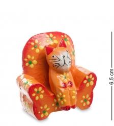 28-008 Статуэтка КОШКА на диване, цвет-оранжевый