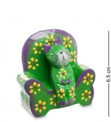 28-010 Статуэтка КОШКА в кресле, цвет-зеленый