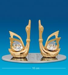 AR-1296 Визитница Пара лебедей  Юнион