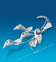 AR-1305 Фигурка посеребр.  Цветы Каллы   Юнион