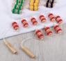 Массажёр-лента, 9 звеньев, деревянный, цвет МИКС