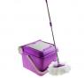 Набор для уборки: ведро складное с отжимом 10 л, швабра, запасная насадка из микрофибры, цвет МИКС