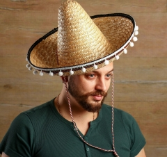 Карнавальная шляпа «Сомбреро», солома, р-р 56-58
