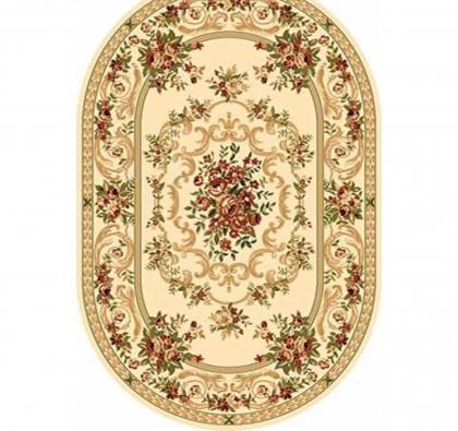 Овальный ковёр Olympos d057, 100 х 300 см, цвет cream