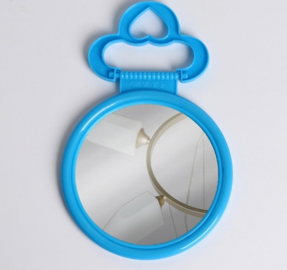 Зеркало складное-подвесное, d зеркальной поверхности 9,5 см, МИКС