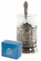 Набор для чая (3 предмета) Исаакиевский собор никел. карт. коробка
