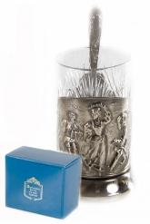 Набор для чая (3 предмета) Русские пляски никел. карт. коробка