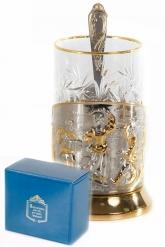 Набор для чая  (3 предмета) Русские пляски позолочение карт.коробка