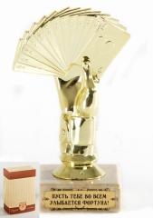 Кубок подарочный  Карты Пусть тебе во всем улыбается Фортуна!