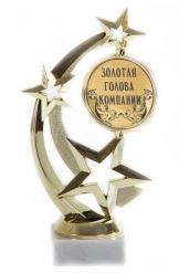 Кубок подарочный Звезда Золотая голова компании 17см