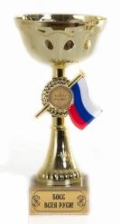 Кубок подарочный Чаша с триколором Босс всея Руси