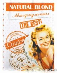 Обложка для автодокументов Natural Blond