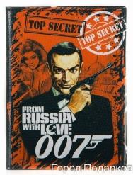 Обложка для автодокументов Агент 007